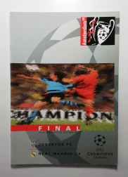 1998 Champions league Final Juventus vs Real Madrid Programme