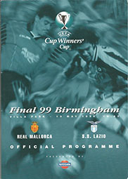 1999 UEFA Cup Winners Cup Final Programme 'Real Mallorca vs S.S Lazio'