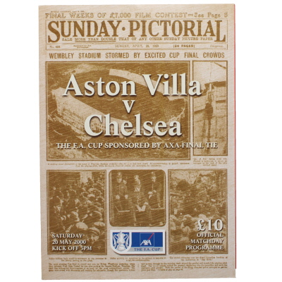 2000 F.A Cup Final Aston Villa vs Chelsea programme