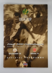 2000 UEFA Cup Final Galatasaray vs Arsenal Programme