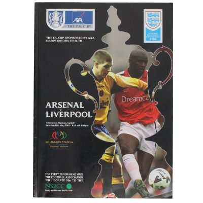 2001 F.A Cup Final Arsenal vs Liverpool programme