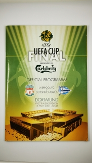 2001 UEFA Cup Final Liverpool vs Deportivo Alaves programme