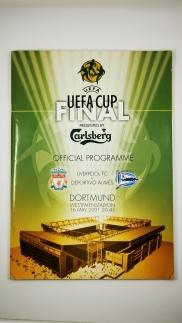 2001 UEFA Cup Final Liverpool vs Deportivo Alaves programme