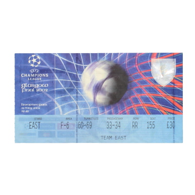 2002 Champions League Final Bayer Leverkusen vs Real Madrid ticket