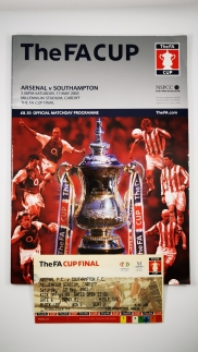 2003 F.A Cup Final Arsenal vs Southampton programme with ticket