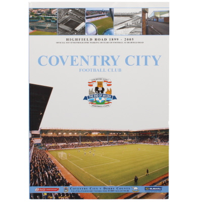 2004-05 Coventry City vs Derby County last game at Highfield road programme