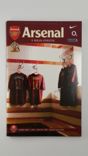 2005-06 Arsenal vs Wigan Programme Last Game at Highbury with A-Z of Highbury Brochure