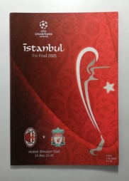 2005 Champions League Final Liverpool vs AC Milan Programme