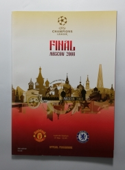 2008 Champions League Final Manchester United vs Chelsea Programme