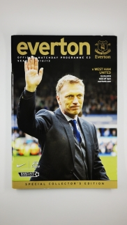 2012-13 Everton vs West Ham United David Moyes last game special collectors edition