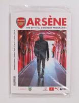 2018-19 Arsenal vs Burnley Programme Arsene Wenger last game