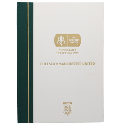 2018 F.A Cup Final Chelsea vs Manchester United Limited Edition Hard Back
