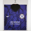 2019 Super Cup Final Liverpool vs Chelsea programme and kit card football programme