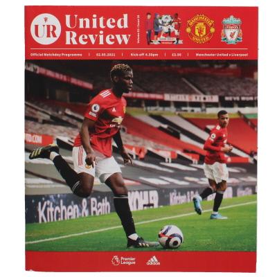 2020-21 Manchester United vs Liverpool postponed match programme