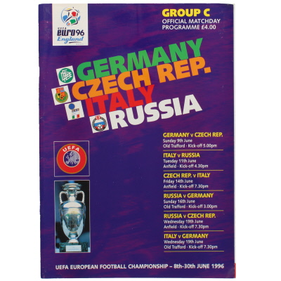 Euro 96 Group C Germany, Czech Republic, Italy, Russia programme