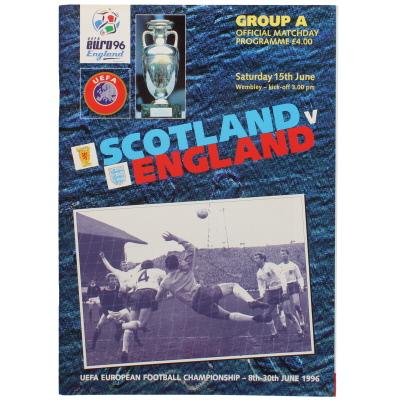 Euro 96 Scotland vs England programme